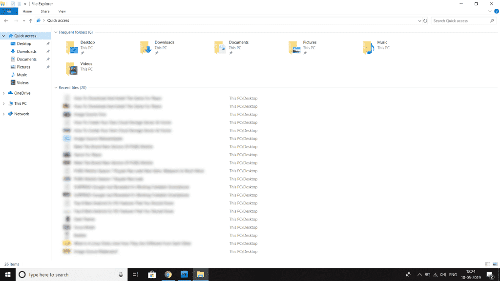 Step 1 1024x576 - How To Remove or Disable Recent Files From Windows 10 File Explorer