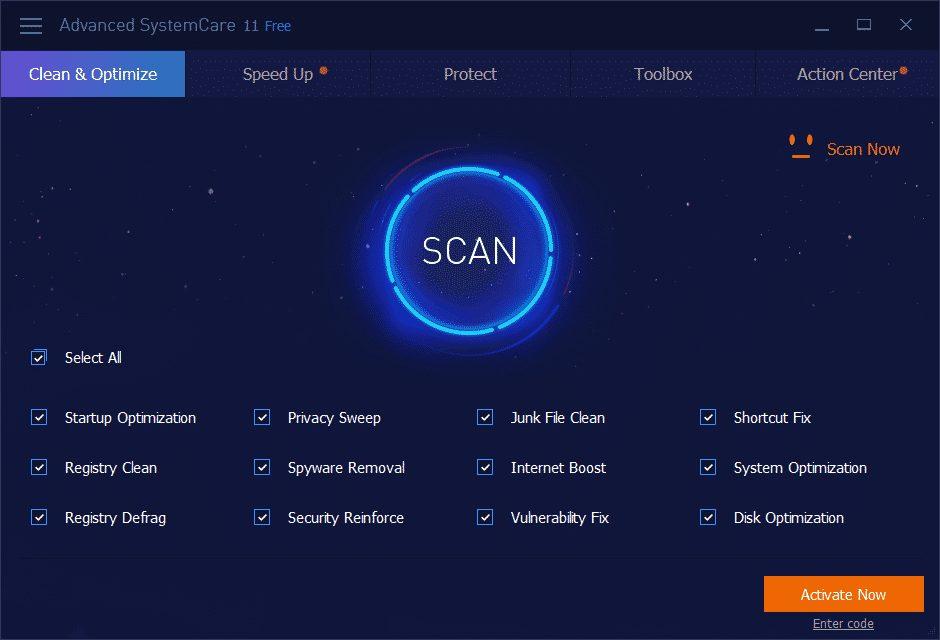 iObit Advanced SystemCare 1