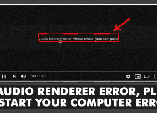 How To Fix Audio Renderer Error, Please Restart your Computer Error