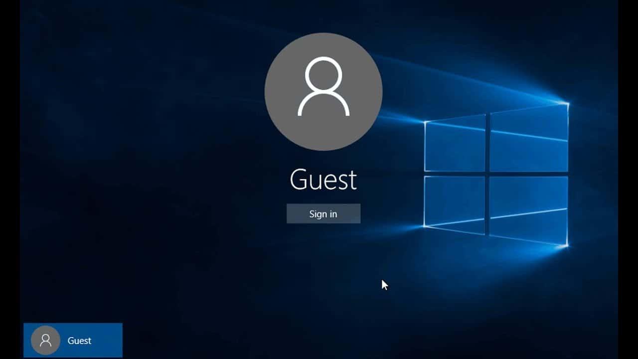 Create a Guest Account