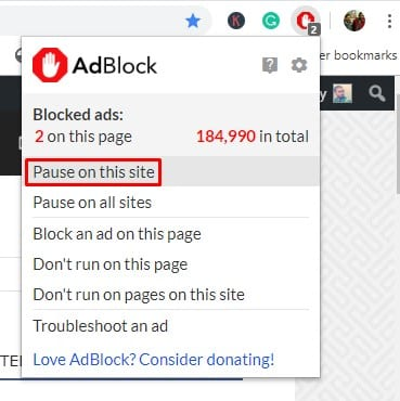 Disable Adblocker from the webpage