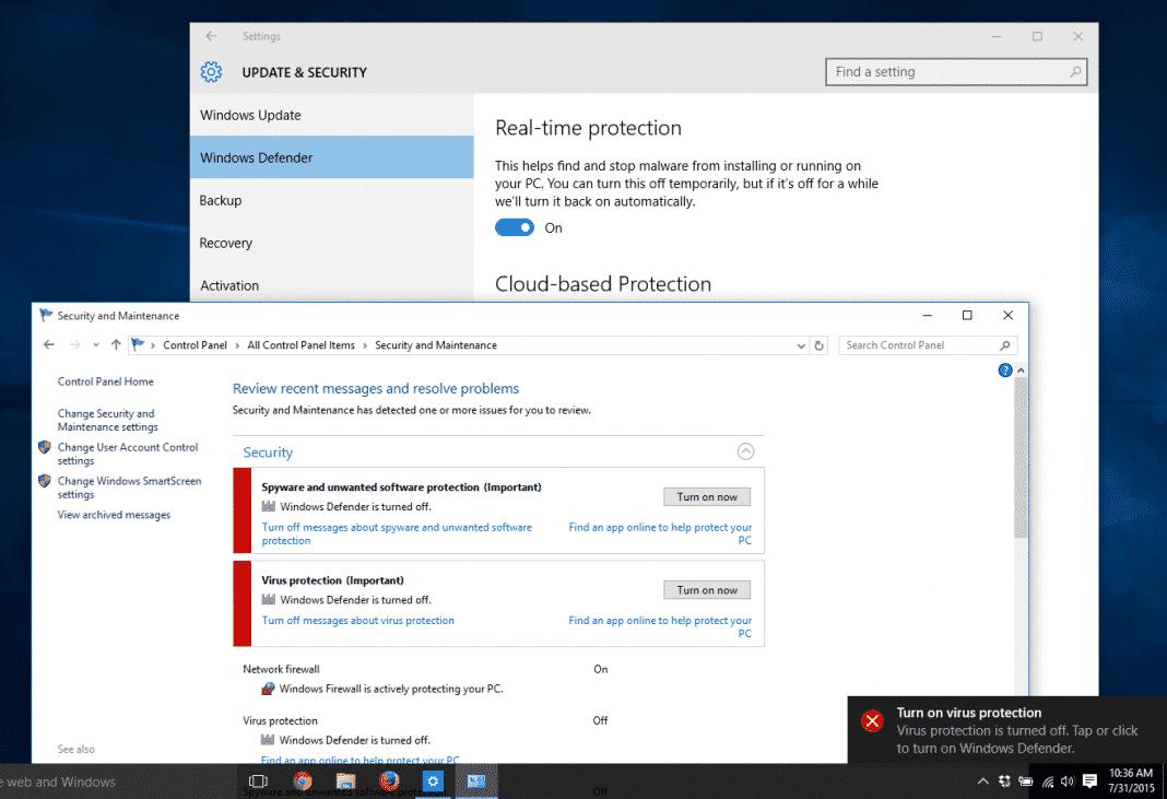 Disable Windows Defender or Antivirus