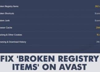 How To Fix 'Broken Registry Items' On Avast Antivirus