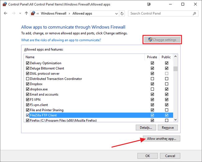 Unblock Spotify from Windows Firewall