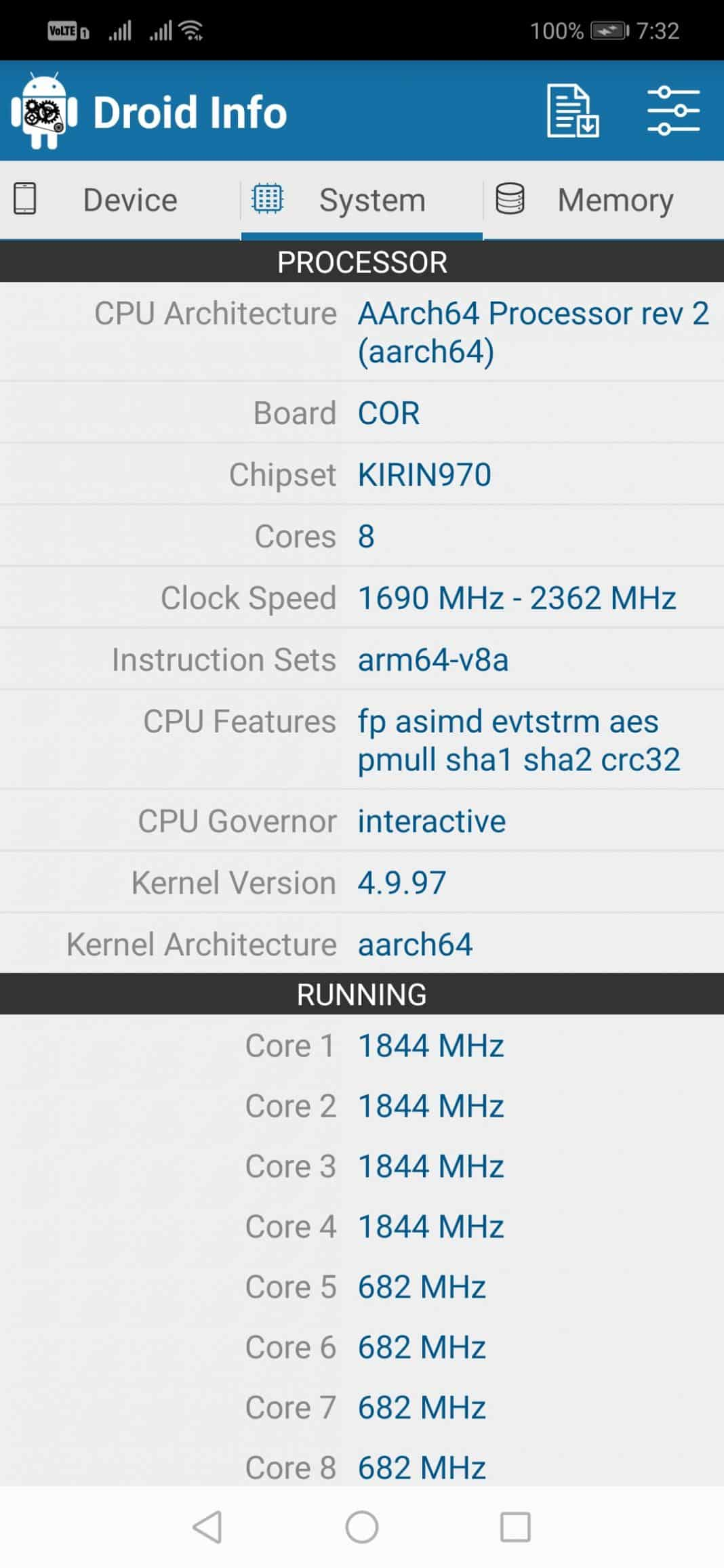 Check Android Phone's Processor