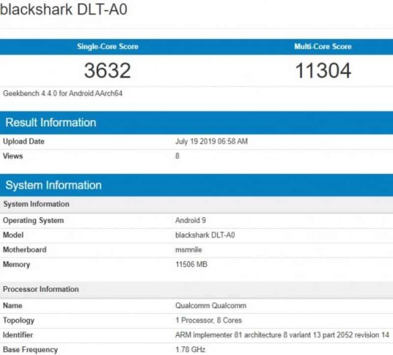 Xiaomi's Black Shark 2 Pro To Feature Snapdragon 855+ & 12GB RAM