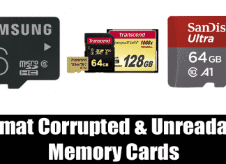 How To Format Corrupted/Unreadable Memory Card