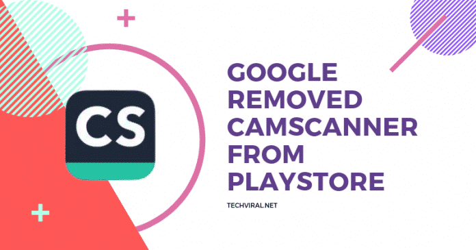 Google booted camscanner from playstore