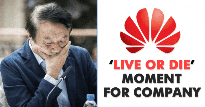 Huawei Founder Warns it's 'Live or Die Moment' For Company