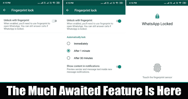 Tech Thursday: WhatsApp launches fingerprint lock feature for Android users
