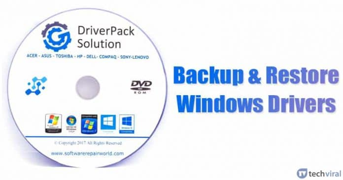 Top Best Free Softwares To Backup & Restore Windows Drivers