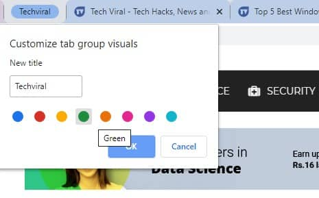 Enable The Tab Groups In Google Chrome