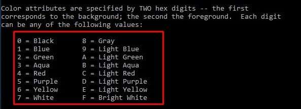 Change Command Prompt Color In Windows 10
