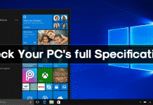 How to Check Your PC's full Specifications on Windows 10