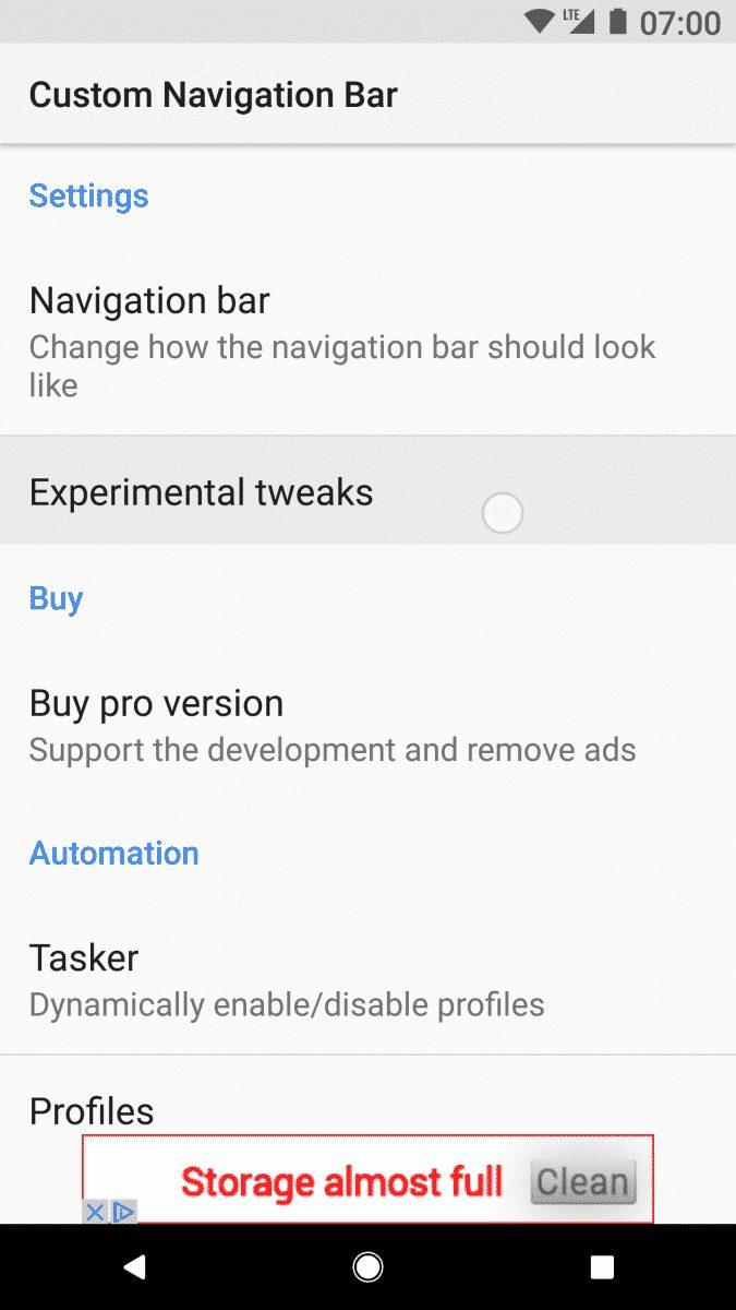 Tap on the 'Navigation Bar'