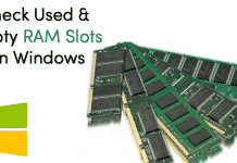 How To Check Used & Empty RAM Slots on Windows 10
