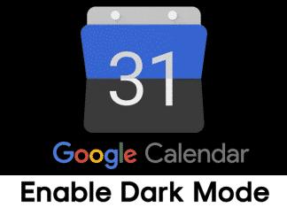 Enable Dark Mode in Google Calendar