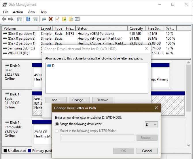 Check The Drive In Disk Management Utility