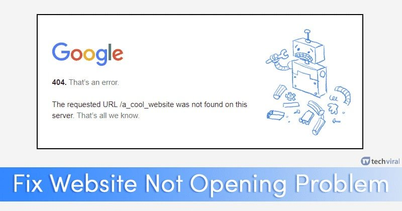 How To Fix Some Websites Not Loading Opening In Browser
