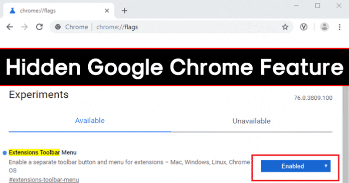 How To Enable Google Chrome's New Extension Menu