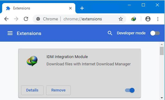 Install IDM Extension for Google Chrome