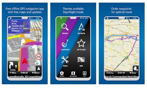 Mappe di navigazione GPS MapFactor