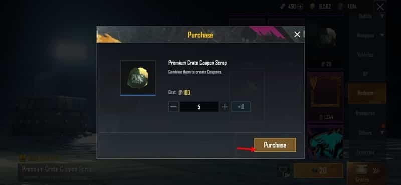 Get PUBG Premium Crate Coupon For Free