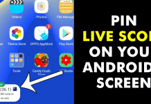 How To Pin Live Score on Your Android's Screen