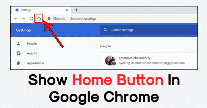 How To Show The Home Button In Google Chrome