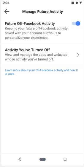 Use Facebook's New 'Off-Facebook Activity' Feature