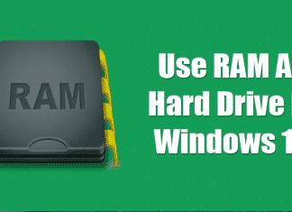 How To Use RAM As Hard Drive In Windows 10