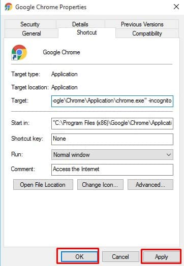Make Google Chrome Always Open In Incognito Mode
