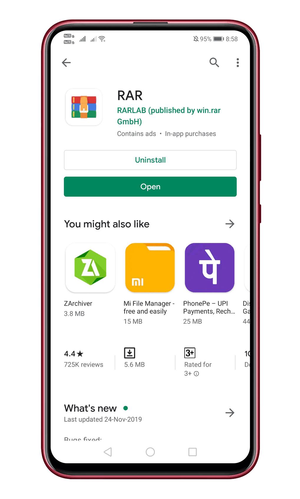 Install RAR App