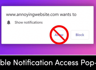 How to Stop Websites from Requesting Notification Access