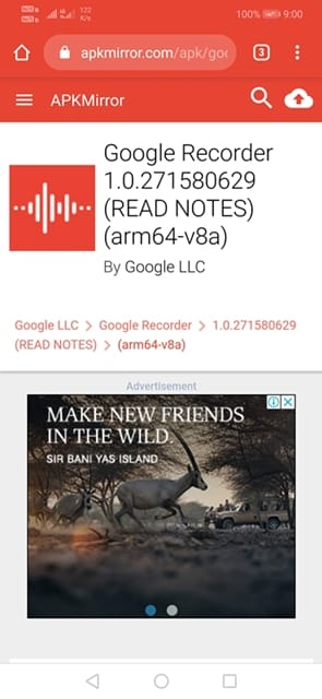 Install Pixel 4's New Voice Recorder App