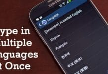How to Type in Multiple Languages at Once on Android