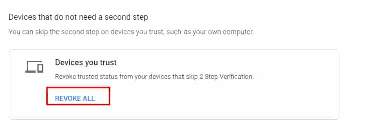 Remove Trusted Devices From Your Google Account