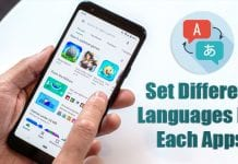 How To Set different languages For Each of your Android Apps