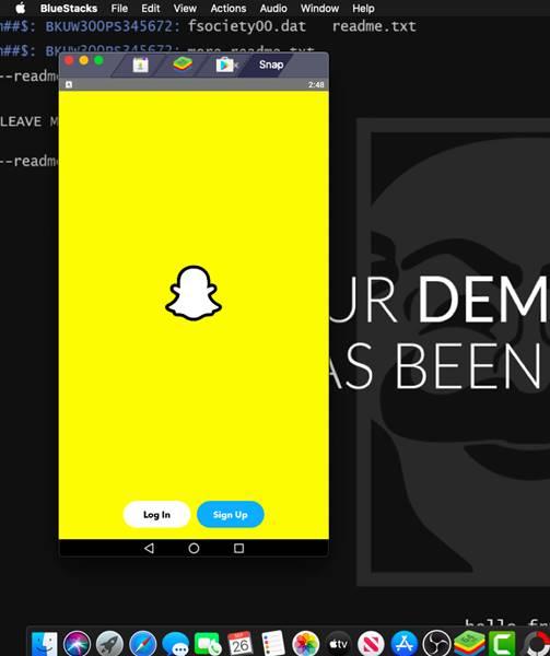 افتح Snapchat