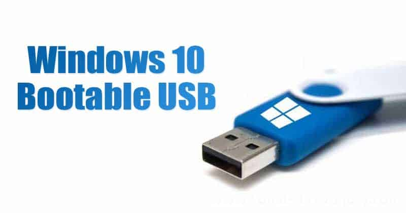 Create Windows 10 Bootable USB Using Media Creation Tool