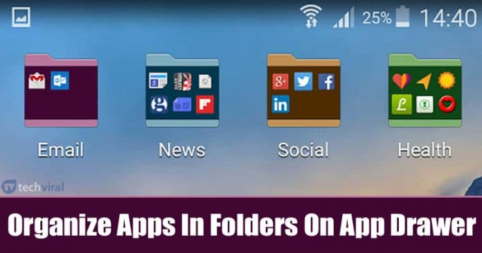 How To Organize Apps In Folders On Android's App Drawer