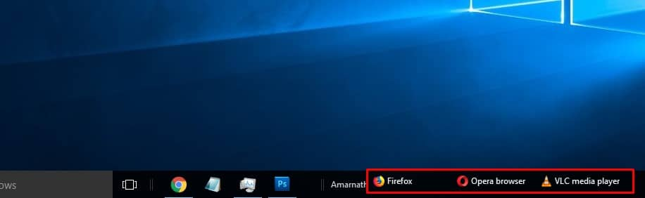 Assign the most used apps to the new toolbar