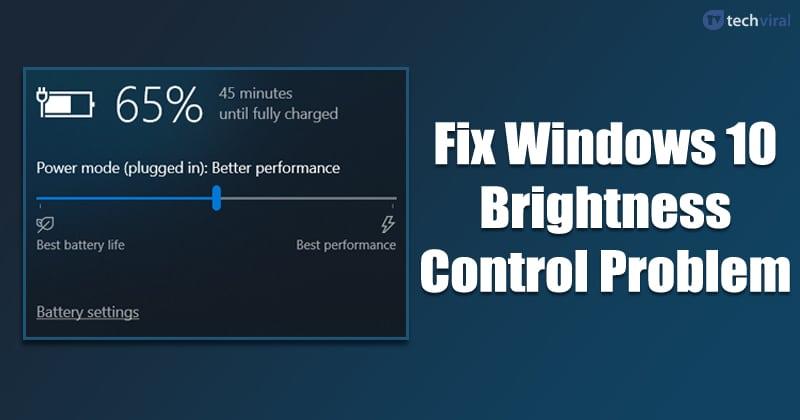 Cách khắc phục Windows 10 Kiểm soát độ sáng không hoạt động 1