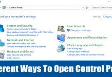 6 Different Ways To Open Control Panel In Windows 10