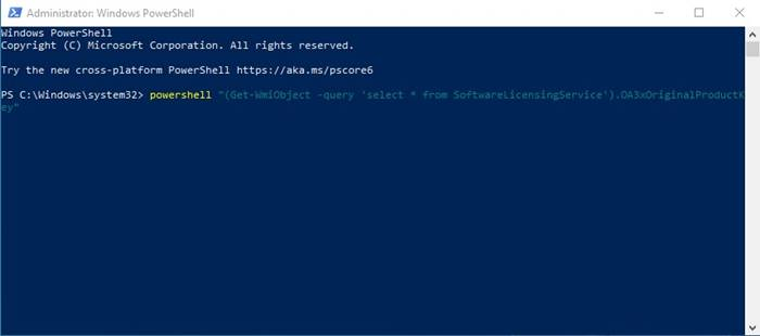 Find Windows License Key using PowerShell