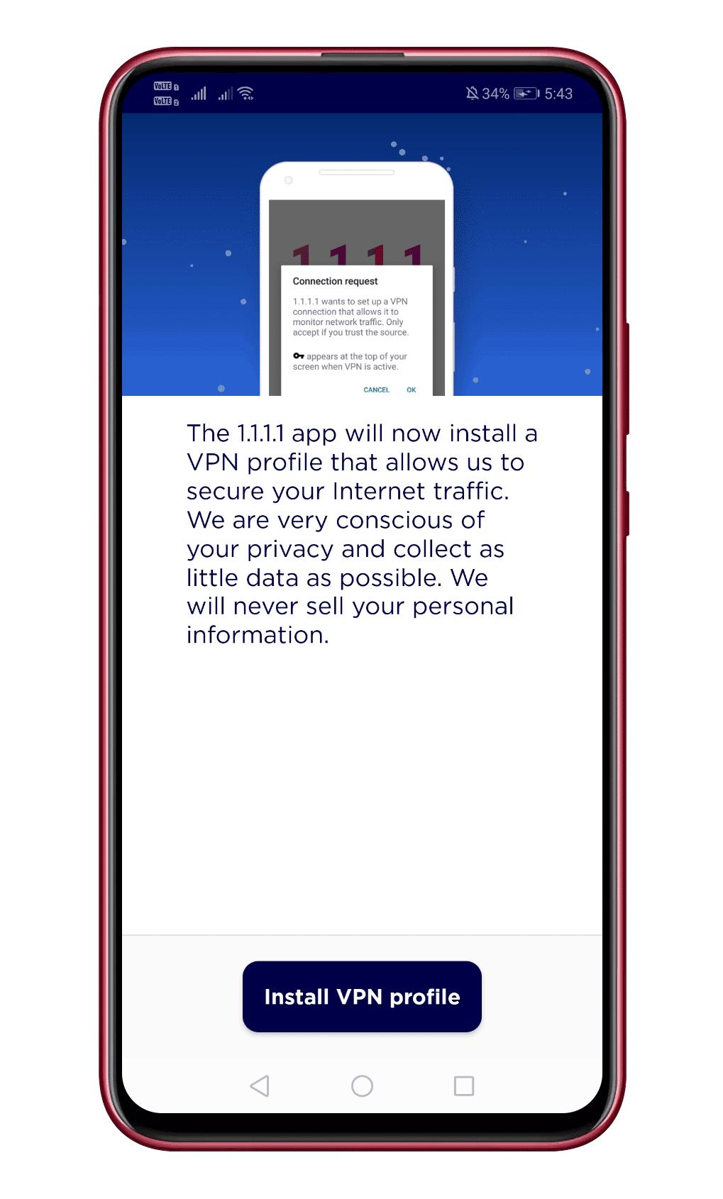 Tap On 'Install VPN Profile'