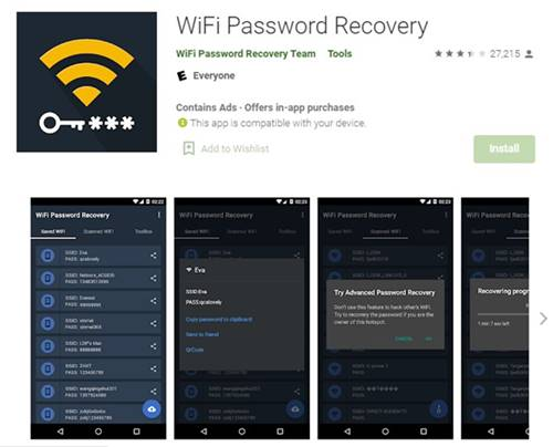 Download & install the Wifi Password Recovery app