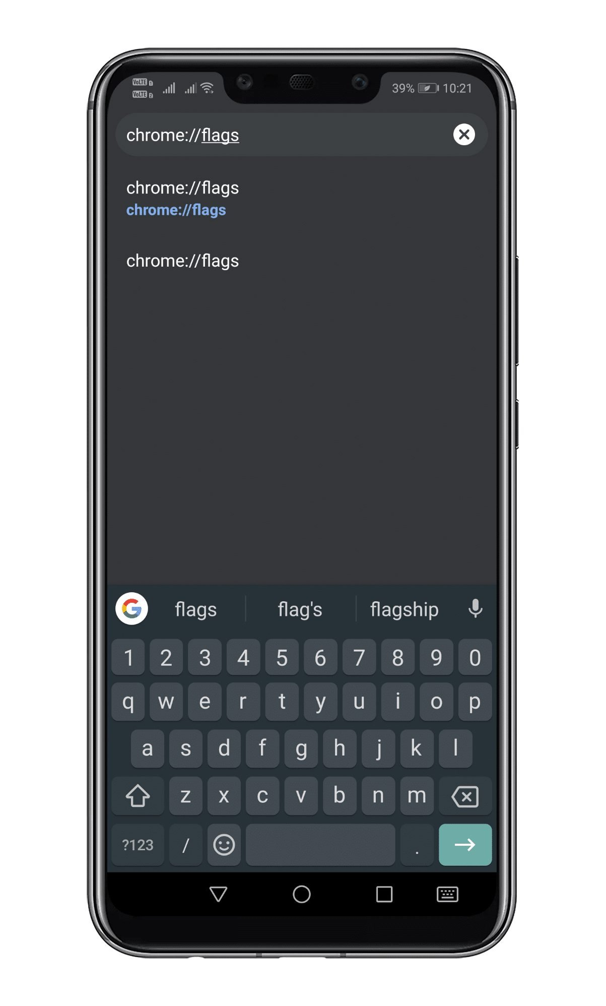 Type in 'Chrome://flags'
