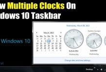 How to Add Multiple Clocks on Windows 10 Taskbar