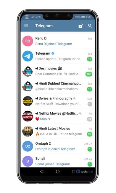 Open Telegram Messenger